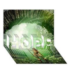 The Gate In The Magical World Hope 3d Greeting Card (7x5)