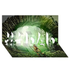The Gate In The Magical World #1 DAD 3D Greeting Card (8x4)