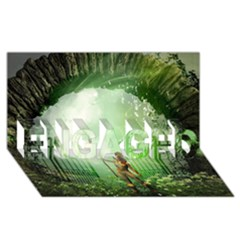 The Gate In The Magical World ENGAGED 3D Greeting Card (8x4)