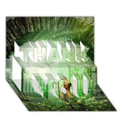 The Gate In The Magical World THANK YOU 3D Greeting Card (7x5)