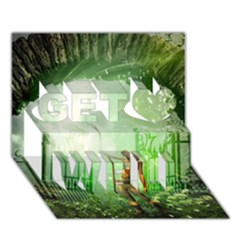 The Gate In The Magical World Get Well 3d Greeting Card (7x5)