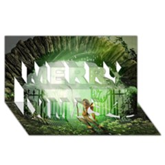 The Gate In The Magical World Merry Xmas 3d Greeting Card (8x4)