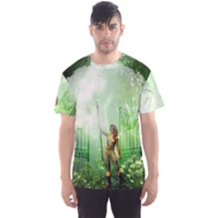 The Gate In The Magical World Men s Sport Mesh Tees