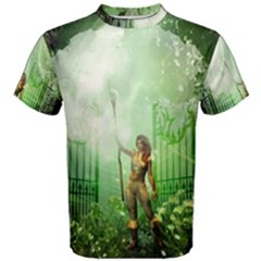 The Gate In The Magical World Men s Cotton Tees