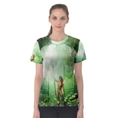 The Gate In The Magical World Women s Sport Mesh Tees