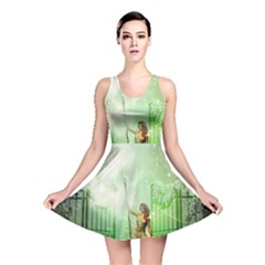 The Gate In The Magical World Reversible Skater Dresses