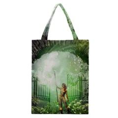 The Gate In The Magical World Classic Tote Bags