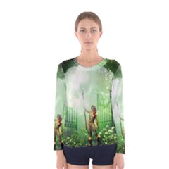 The Gate In The Magical World Women s Long Sleeve T-shirts