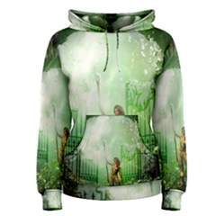 The Gate In The Magical World Women s Pullover Hoodies