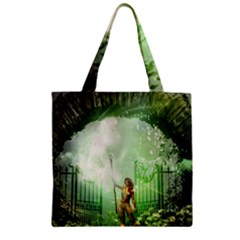 The Gate In The Magical World Zipper Grocery Tote Bags