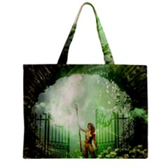 The Gate In The Magical World Zipper Tiny Tote Bags
