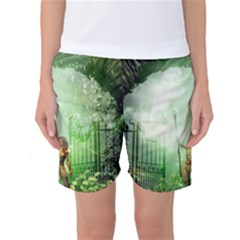 The Gate In The Magical World Women s Basketball Shorts