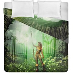 The Gate In The Magical World Duvet Cover (king Size)