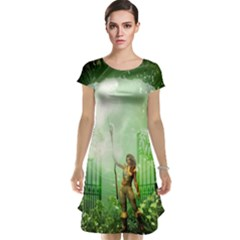 The Gate In The Magical World Cap Sleeve Nightdresses