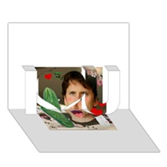 1443925651325 I Love You 3D Greeting Card (7x5)