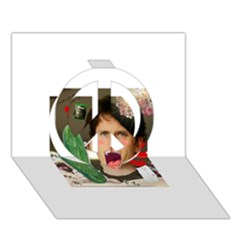 1443925651325 Peace Sign 3d Greeting Card (7x5)