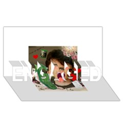 1443925651325 ENGAGED 3D Greeting Card (8x4)