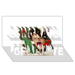 1443925651325 Congrats Graduate 3d Greeting Card (8x4)