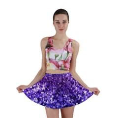 Midnight Glitter Mini Skirts
