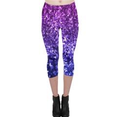 Midnight Glitter Capri Leggings