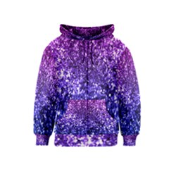 Midnight Glitter Kids Zipper Hoodies