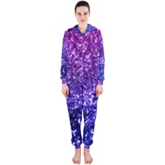 Midnight Glitter Hooded Jumpsuit (Ladies)