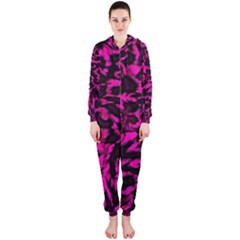 Extreme Pink Cheetah Abstract  Hooded Jumpsuit (Ladies)