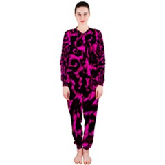 Extreme Pink Cheetah Abstract  Onepiece Jumpsuit (ladies)