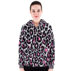 Pink Cheetah Bling  Women s Zipper Hoodies