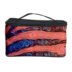 Florescent Orange Zebra Abstract  Cosmetic Storage Cases