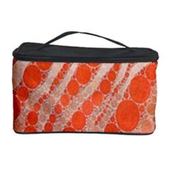 Florescent Orange Zebra Abstract  Cosmetic Storage Cases