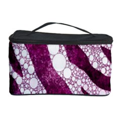 Purple Zebra Print Bling Pattern  Cosmetic Storage Cases