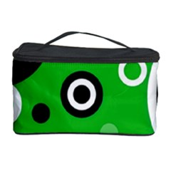 Green Abstract Pattern  Cosmetic Storage Cases