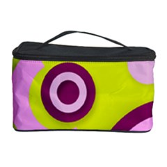 Florescent Yellow Pink Abstract  Cosmetic Storage Cases