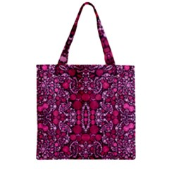 Crazy Beautiful Abstract  Zipper Grocery Tote Bags
