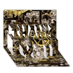Metal Steampunk  Thank You 3d Greeting Card (7x5)