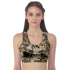 Metal Steampunk  Sports Bra