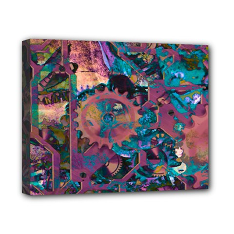 Steampunk Abstract Canvas 10  X 8