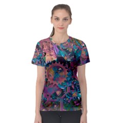 Steampunk Abstract Women s Sport Mesh Tees