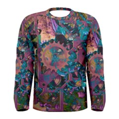 Steampunk Abstract Men s Long Sleeve T-shirts
