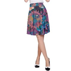 Steampunk Abstract A-Line Skirts