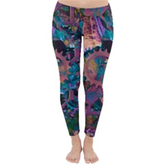 Steampunk Abstract Winter Leggings