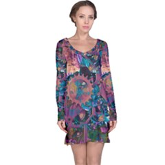 Steampunk Abstract Long Sleeve Nightdresses