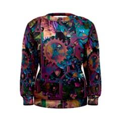 Steampunk Abstract Women s Sweatshirts