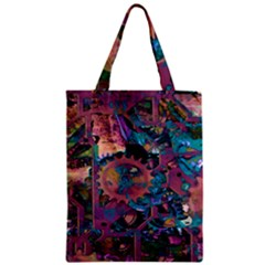 Steampunk Abstract Zipper Classic Tote Bags