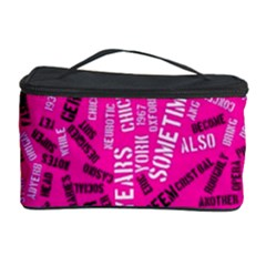 Hot Pink Chic Typography  Cosmetic Storage Cases