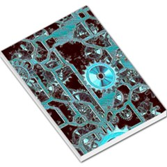Steampunk Gears Turquoise Large Memo Pads