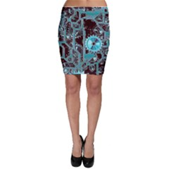 Steampunk Gears Turquoise Bodycon Skirts