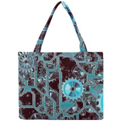 Steampunk Gears Turquoise Tiny Tote Bags