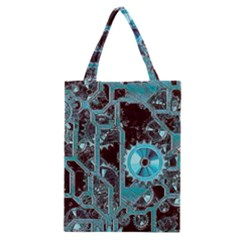 Steampunk Gears Turquoise Classic Tote Bags